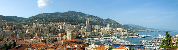 Monaco- - Monte Carlo-Panorama Lizenzfreies Stockfoto