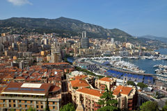 Monaco - Monte Carlo panorama Royalty Free Stock Images