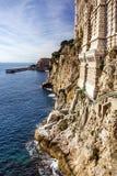 Monaco and Monte Carlo principality. Sea view, Oceanographic mus Royalty Free Stock Image