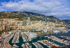 Monaco and Monte Carlo principality, south of France Stock Photography