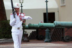 Monaco, Monte Carlo: Royal prince guard Stock Image