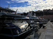 Monaco, Monte-Carlo Yacht-Verein stockfotos
