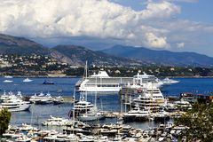 Monaco Montecarlo principality marina harbor Royalty Free Stock Photography