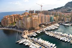 Monaco moorage Stock Images