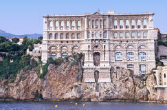 Monaco museum. The oceanographic institute,aquarium and museum of Monaco, europe, where commanding officer Cousteau worked Royalty Free Stock Photo