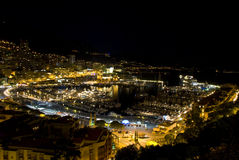 Monaco at night. Photo taken in July 2009 Royalty Free Stock Photography