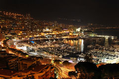 Monaco night Royalty Free Stock Images