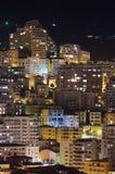 Monaco at night. Monte Carlo city, Monaco, night buildings Royalty Free Stock Photos