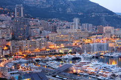 Monaco at night Stock Photo