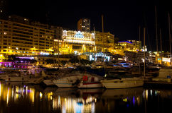 Monaco at night. Monte Carlo Stock Image