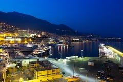 Monaco at night Stock Photo