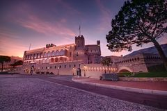 Monaco palace Stock Photos