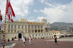 Monaco Palace. Attracts tourist from around the world Stock Photography