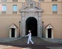 Monaco palace guard walking Stock Images