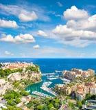 Monaco Palace Mediterranean Sea French riviera Stock Photography