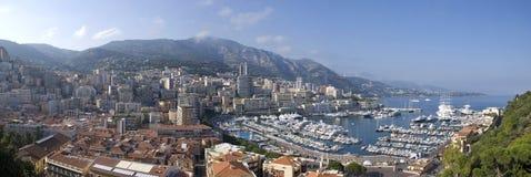 Monaco-Panorama Stockfoto