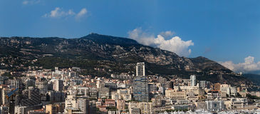 Monaco Panorama. The skyline and harbor of downtown Monaco Royalty Free Stock Image