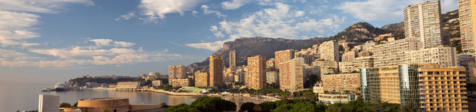 Monaco panorama. Panorama of Monte Carlo/Monaco. Taken from the Monte Carlo Bay Hotel stock images