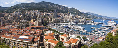Monaco Panorama Royalty Free Stock Photo