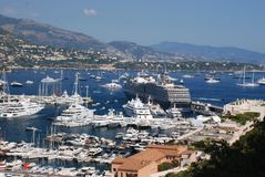 Monaco panorama Royalty Free Stock Photography