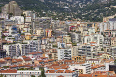 monaco panorama- sikt Arkivfoton