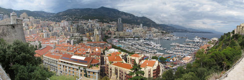 Monaco panoramautsikt Royaltyfri Bild