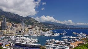 Monaco. Panoramic time-lapse of Monaco harbor