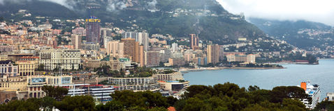 Monaco - Panoramic view Stock Images
