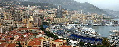 Monaco - piękny widok Monte, Carlo od wzrostów Obraz Stock