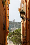 Monaco, Picturesque Old Town Alleyway Royalty Free Stock Images