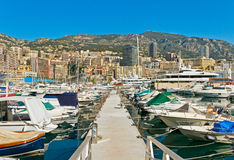 Monaco pier. Royalty Free Stock Images