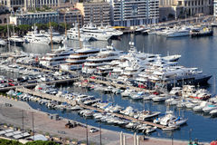 Monaco port, Europe. Royalty Free Stock Images