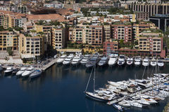 Monaco - Port of Fontvieille. The Port of Fontvieille in the Principality of Monaco, a sovereign city state, located on the French Riviera. It has an area of 1 Stock Photos
