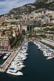 Monaco - Port of Fontvieille. The Port of Fontvieille in the Principality of Monaco, a sovereign city state, located on the French Riviera. It has an area of 1 Royalty Free Stock Image