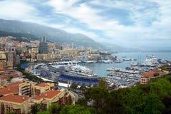 Monaco - Port panoramic view Stock Image
