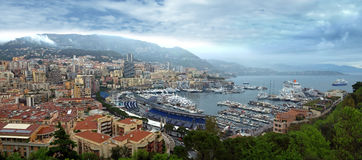 Monaco - Port panoramic view Royalty Free Stock Photography