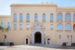 Monaco Prince's Palace facade in a summer day, Monaco-ville Royalty Free Stock Images