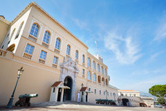 Monaco Prince's Palace facade in a summer day Royalty Free Stock Image