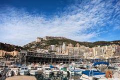Monaco Skyline From Port Hercules Royalty Free Stock Image