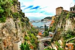 Monaco. Principality of Monaco, mediterranean sea - near France royalty free stock image
