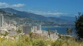 Monaco przy Cote D'Azur Francja zbiory wideo