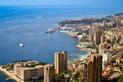 Monaco rezidentials. Monaco bay view with residential buildings in Monte Carlo, Monaco stock image