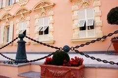 Monaco rosa färggata Arkivfoto