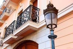 Monaco rosa färggata Arkivbilder