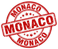 Monaco stamp Stock Photos