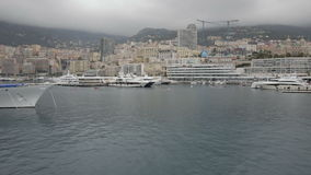 Monaco rowing boats stock video footage