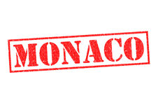 MONACO. Rubber Stamp over a white background Stock Photo