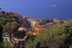 Monaco söder av Frankrike Royaltyfria Foton