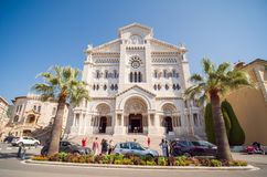 Monaco, Monte Carlo - August 10, 2018: Monaco Saint Nicholas Cathedral Cote d`Azur Riviera stock image