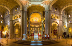 Monaco Saint Nicholas Cathedral Interior. Monaco Saint Nicholas Cathedral Cote d`Azur Riviera interior Stock Image